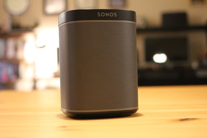 The Sonos Play:1 streaming speaker.