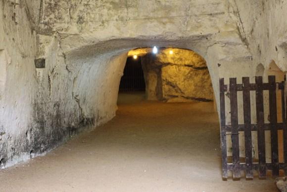 Into the tunnels of Chateau de Breze.