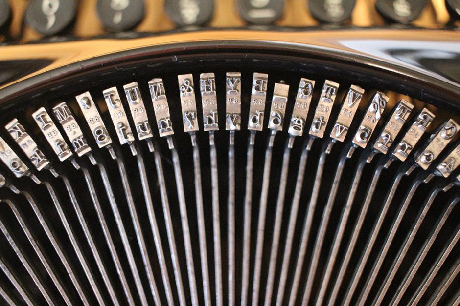 Typebars from the Remington Rand Streamliner Typewriter.