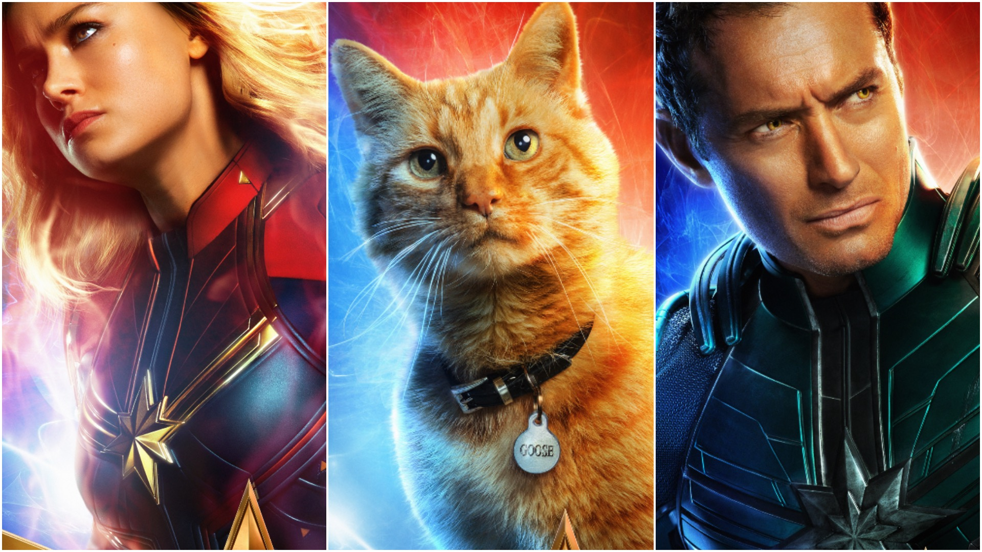 Captain Marvel Gets 10 New Character Posters Including Goose The Cat Geek Outpost