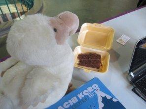 CEO Darwin enjoys a birthday breakfast