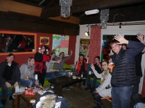 Hi to the crowd! The new look of the Old Market Tavern made for a much better social space!