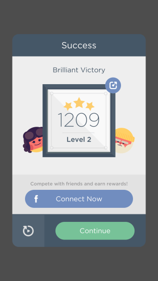 A brilliant victory by myself!