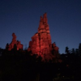 Big Thunder Mountain before teh sun rises.