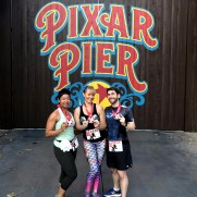 Alia, Natalie and Ryan at the Pixar Pier