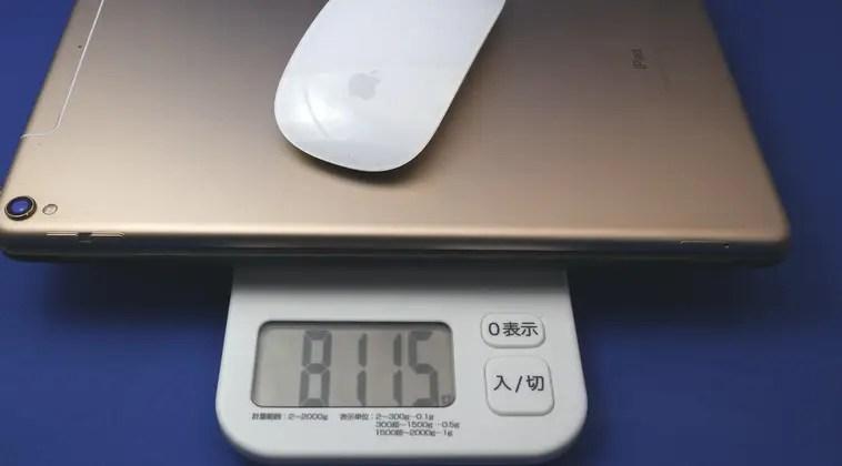 ipadと周辺機器の重量
