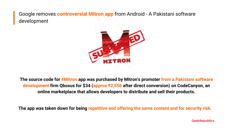 Google removes controversial Mitron app from Android