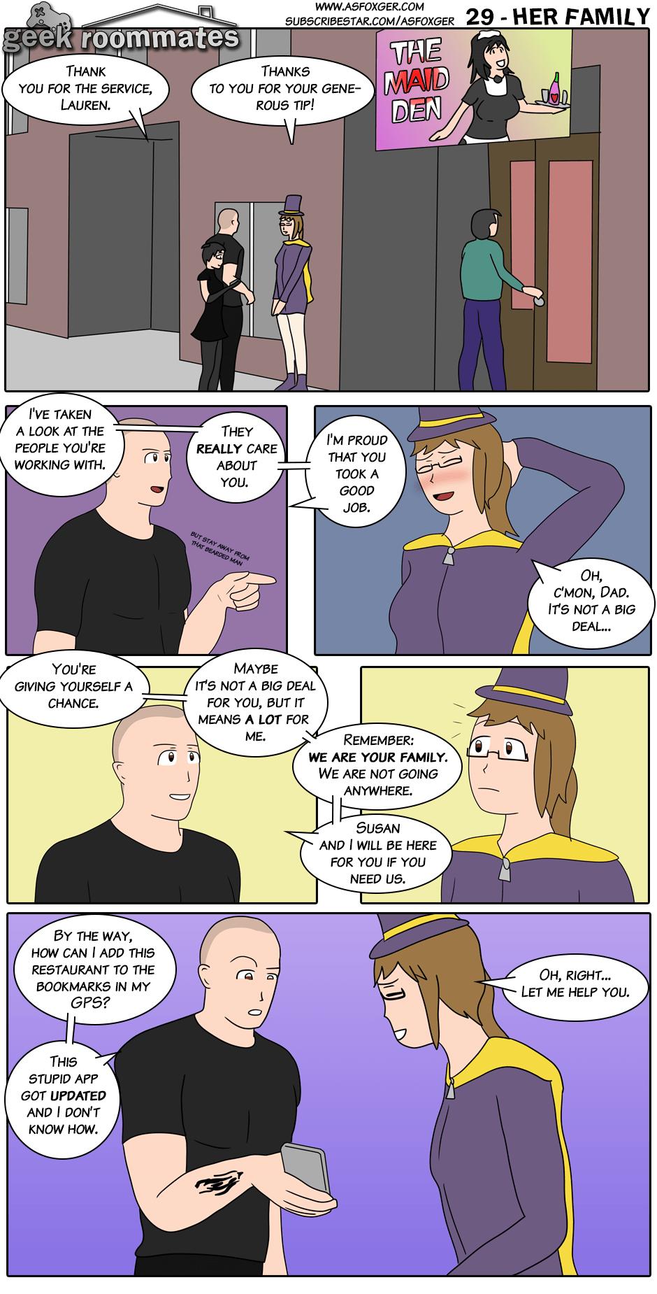 Her family