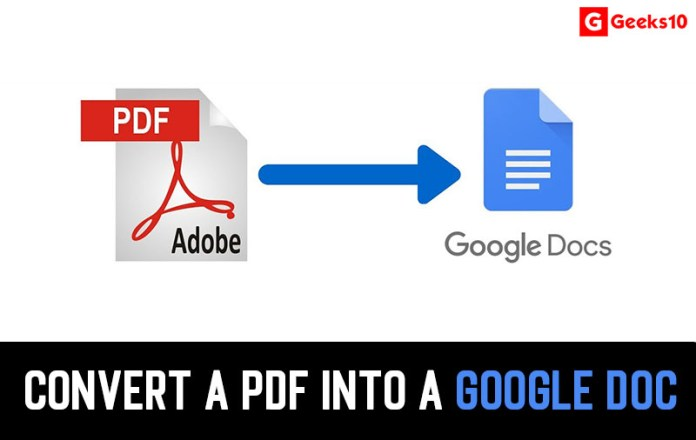 How To Convert a PDF Into a Google Doc (Working)