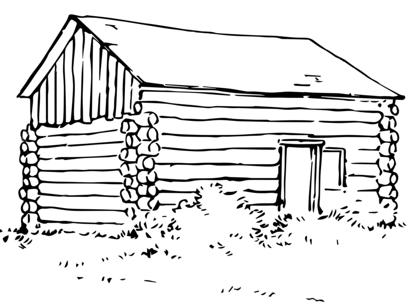 Cabin Coloring Sheet Coloring Pages
