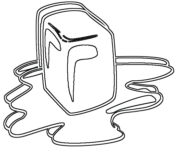 Coloring Pages: Melting Ice
