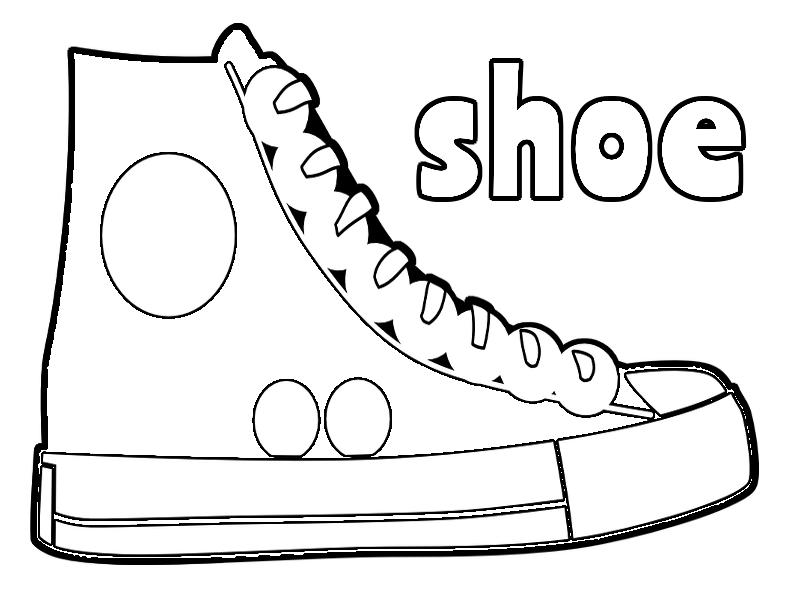 Coloring Pages: Shoe