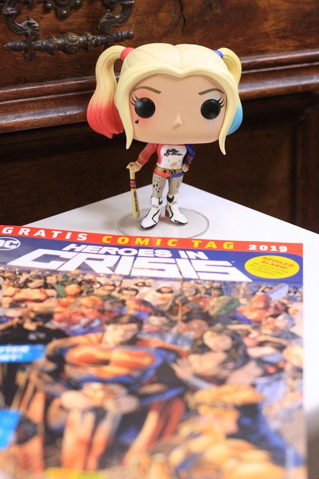 Eine Funko-Pop Figur von Harley Quinn. Foto: geek's Antiques/Lilli