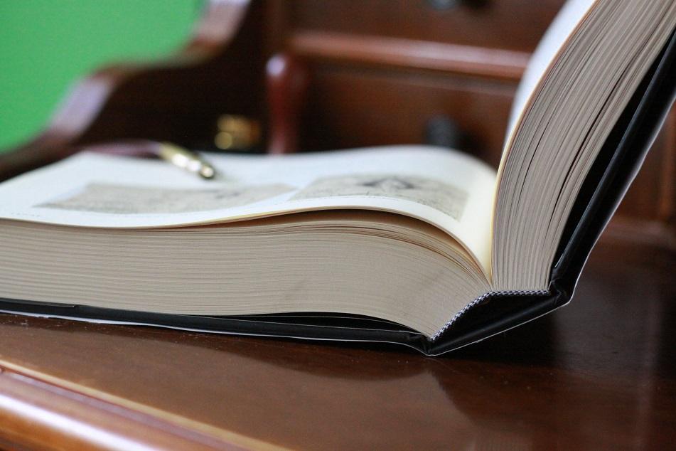 Ein aufgeschlagenes Buch von H.P. Lovecraft auf einem Tisch. Foto: geek's Antiques/Lilli