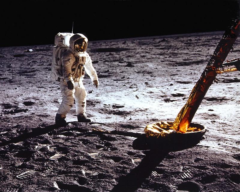 Die Mondlandung. Credit: NASA