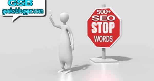 seo stop words