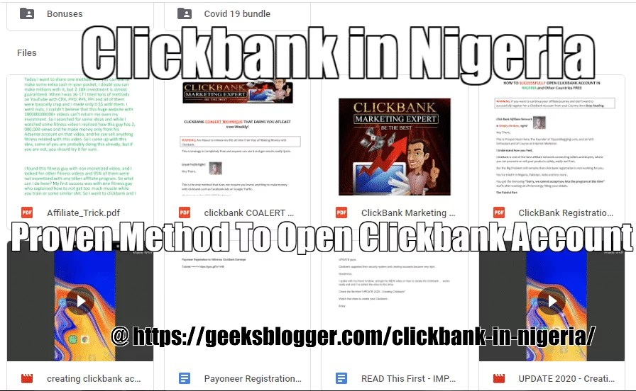 clickbank in nigeria course