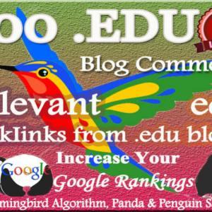 Relevant High DA EDU Blog Comment Backlinks