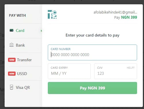 task culture payment page