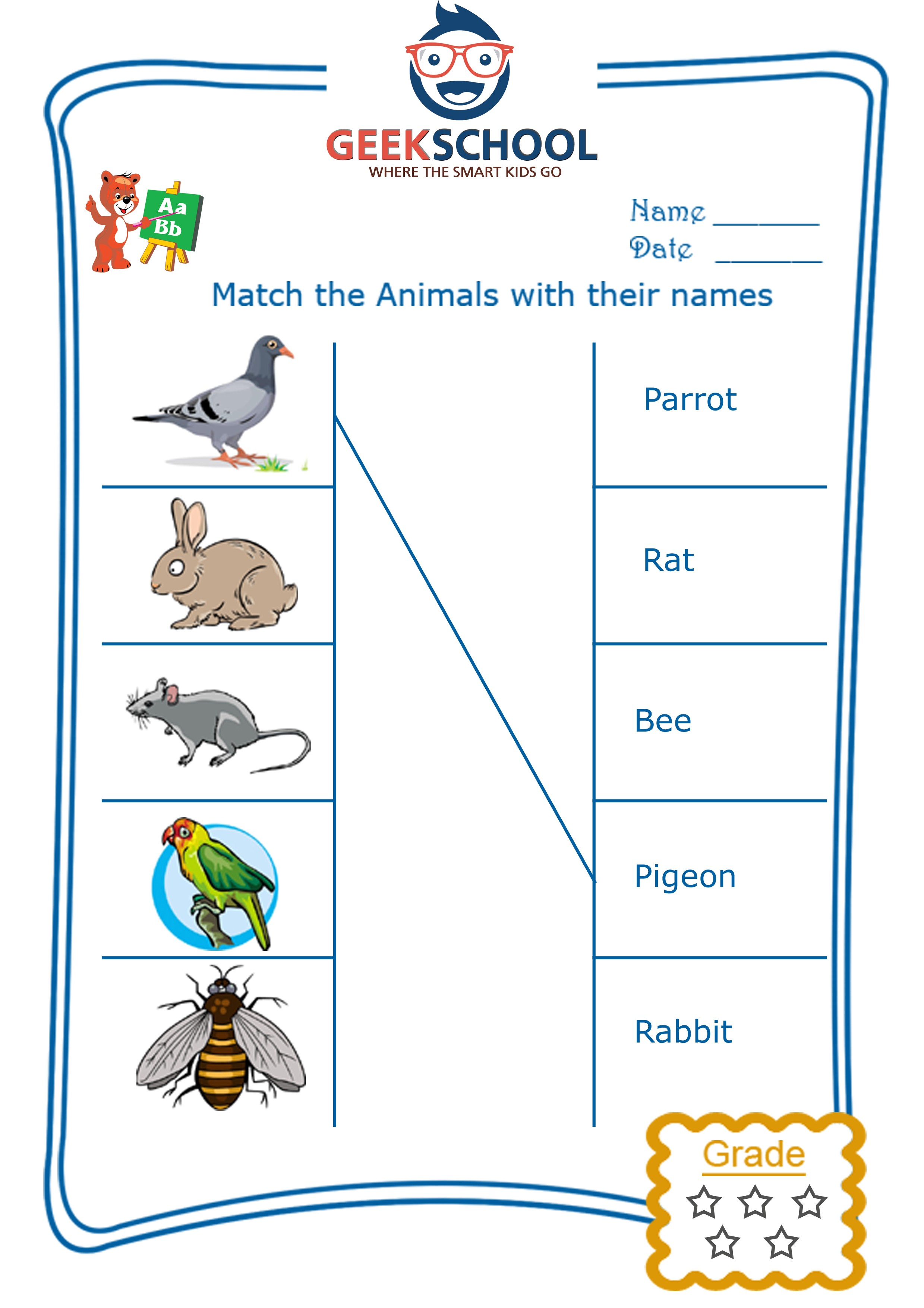 River Animals Worksheet