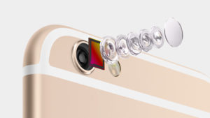 iPhone 6 has an 8MP iSight camera, 1.5µ pixels, ƒ/2.2 aperture. And an all-new sensor.