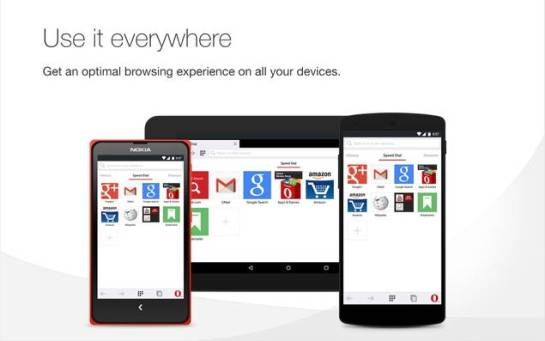 Opera mini/ Opera Web browsers for android