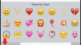 WhatsApp emoticons on iPhone