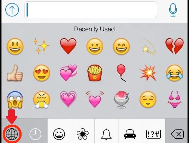 WhatsApp emoticons on iPhone
