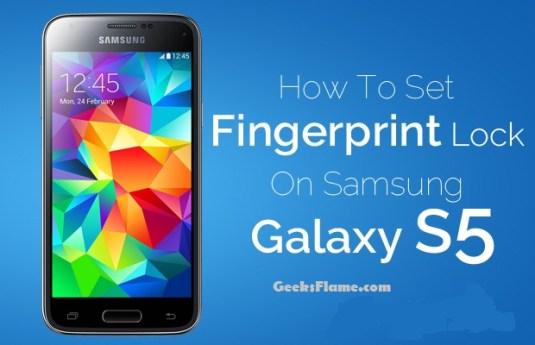 set-up fingerprint lock s5