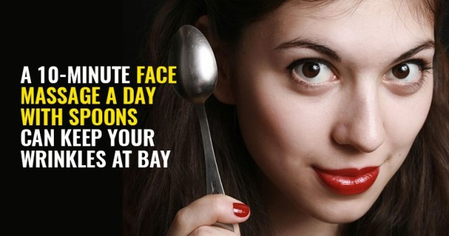 treat wrinkles with spoon