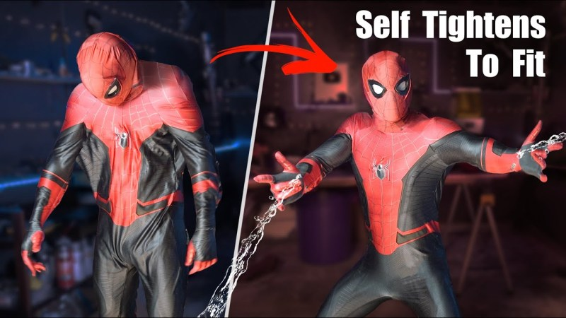 Self tightening Spiderman suit