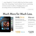 Amazon Openly Attack iPad Mini