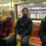 Sergey Brin Wears Google Glasses on NYC Subway
