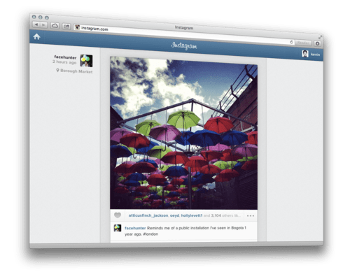 Instagram launched Web Feed