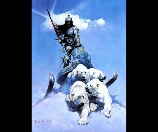 Frank Frazetta-Silver Warrior
