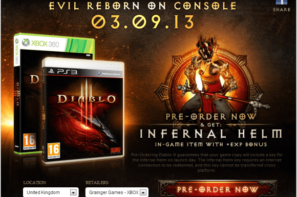 Diablo 3 Console Pre-Orders now open