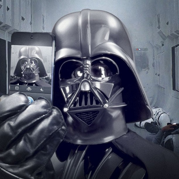 Epic Darth Vader Selfie kicks off Star Wars Instagram Account