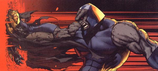 Darkseid laying down the Smacketh on Batman