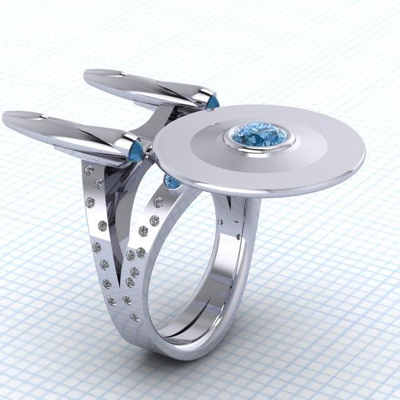 Geek Star Trek Wedding Ring 1