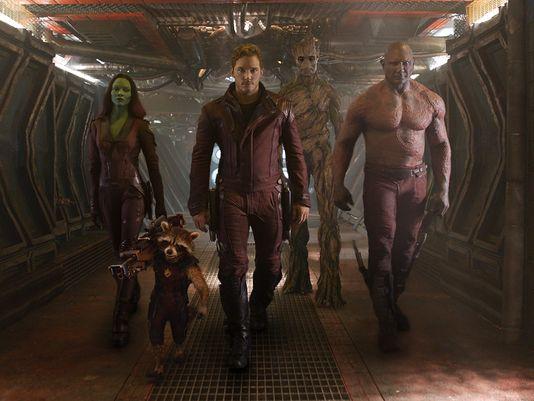 Gamora, Rocket Raccoon, Star-Lord, Groot and Drax