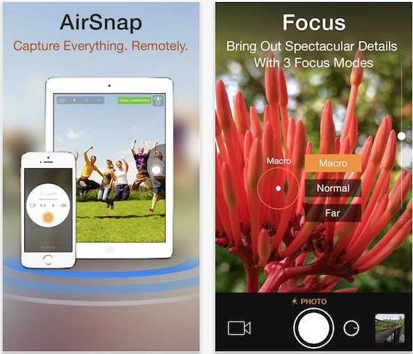 Camera Plus adds AirSnap – Take Photos Remotely