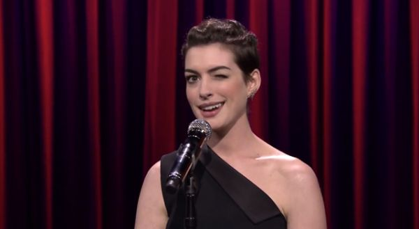Watch Jimmy Fallon and Anne Hathaway Sing Broadway Versions of Rap Hits