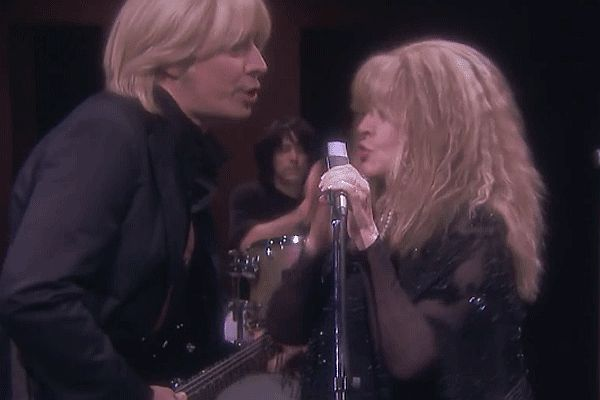 "Jimmy Fallon and Stevie Nicks Recreate ""Stop Draggin' My Heart Around"" Music Video"