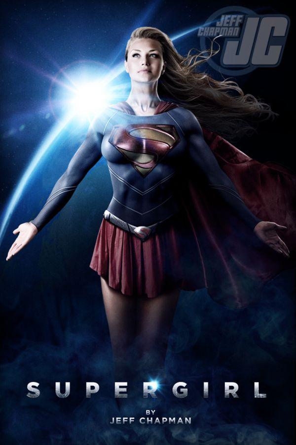 Supergirl art By Jeff Chapman