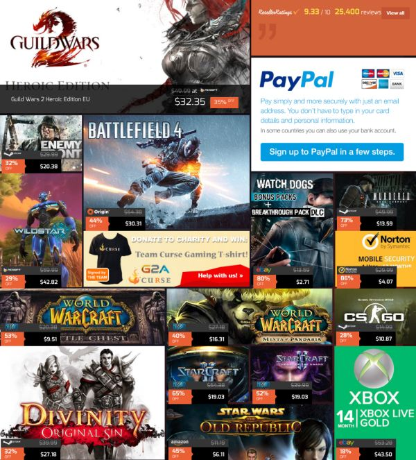 G2A Weekly Gaming Sale - Up to 80% Off!