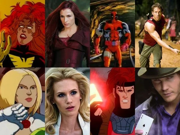 X-Men Movie Characters vs X-Men Cartoon Characters