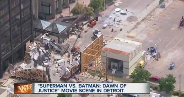 'Batman v Superman: Dawn of Justice' video set Images courtesy of Detroit news station WXYZ