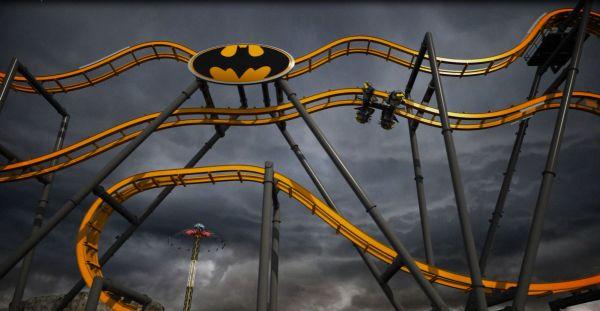 'Batman: The Ride' Roller Coaster