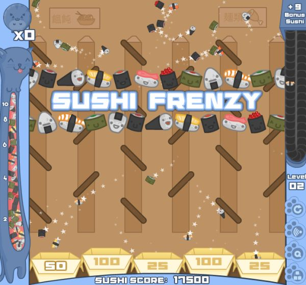 Free Online Game: Sushi Cat
