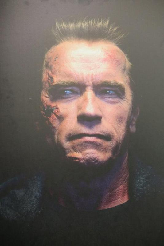 Photo of Arnold Schwarzenegger as the T-800 in Terminator Genisys